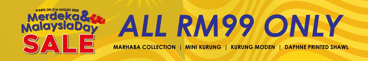 RM99.00 Merdeka & Malaysia Day Sale